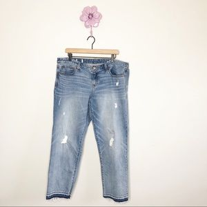 Gap Real Straight Distressed Raw Hem Jeans 34 R